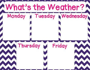 Stars and Chevron Calendar and Weather Set