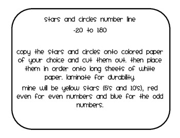Number Line Stars and Circles
