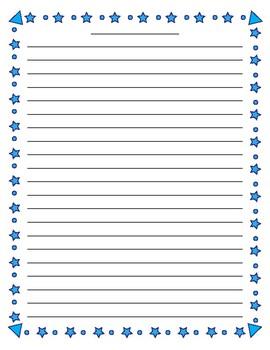writing paper borders