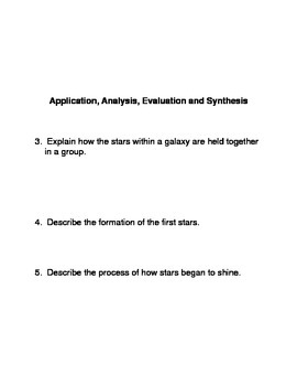 Stars and Galaxies Common Core Reading and Writing Activities