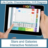Stars and Galaxies Digital Interactive Notebook (Flip Book)