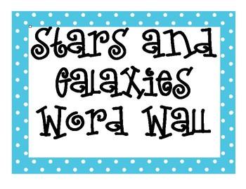 Stars and Galaxies INTERACTIVE Word Wall