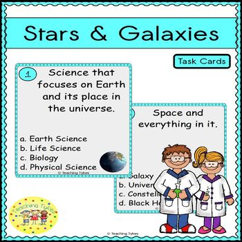 Stars and Galaxies Task Cards