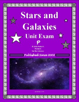 Stars and Galaxies Unit Exam or Summative Review