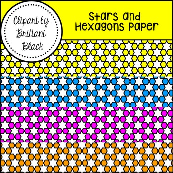 FREE~ Stars and Hexagons Paper