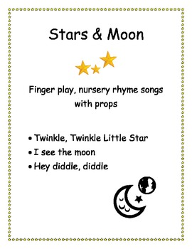 Stars and Moon - Finger play songs