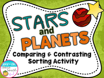 Stars and Planets Comparing & Contrasting Sorting Activity