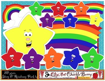 Stars and Rainbows Clip Art Pack