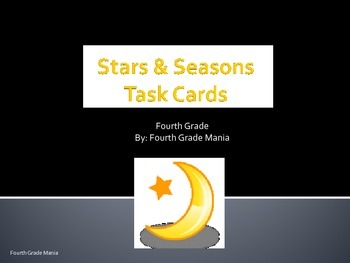 Stars and Seasons Task Cards
