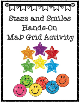 Stars and Smiles Map Grid Activity Using Cardinal and Inte