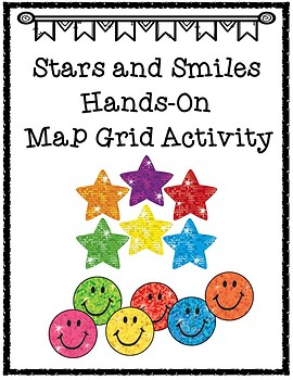 Stars and Smiles Map Grid Sticker Activity