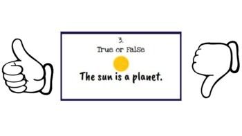 Stars and Star Patterns True or False Task Cards