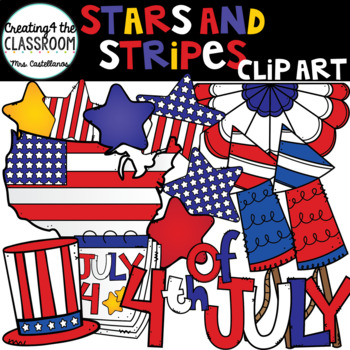 Stars and Stripes 4th of July Clip Art