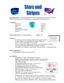 Stars and Stripes!  4th of July curriculum