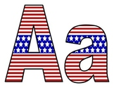 Stars and Stripes Bulletin Board Letters