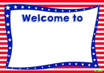 Stars and Stripes - Classroom Theme Pack