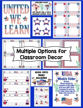 Back to School - Stars and Stripes Forever! Patriotic Theme