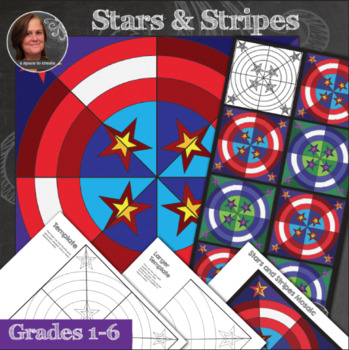 Stars and Stripes Patriotic Collaborative Mosaic - Radial Symmetry Mosaic