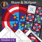 Stars and Stripes Patriotic Collaborative Mosaic - Radial