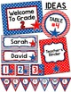 Stars and Stripes Patriotic Theme Classroom Labels and Templates