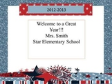 Stars and Stripes Patriotic Theme Open House~~ Back to School