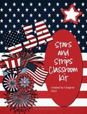 Stars and Stripes Patriotic Themed Kit~classroom printables