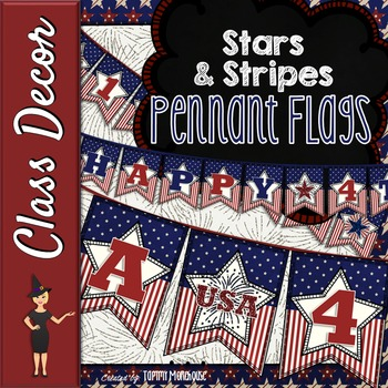 Stars and Stripes Pennant Banners