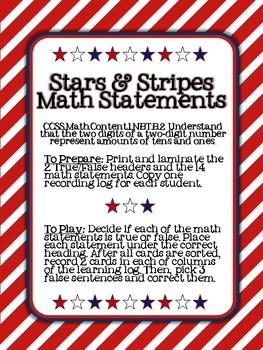 Stars and Stripes: True/False Math Statements