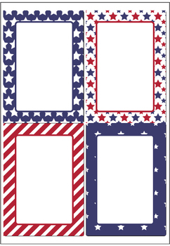 Stars and Stripes USA Labels