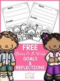 New Years Stars and a Wish Goals & Reflections Activity