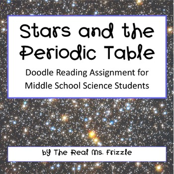Stars And The Periodic Table Doodle Reading By Real Ms Frizzle Tpt