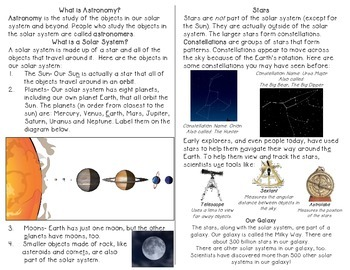 Stars and the Solar System Minibook