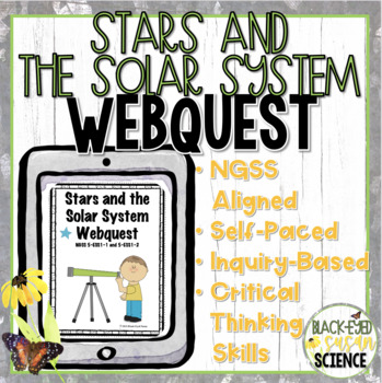 Stars and the Solar System Webquest NGSS 5 ESS1 (Earth's Place in the Universe)