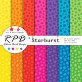 Stars confetti pattern bright rainbow colours digital pape