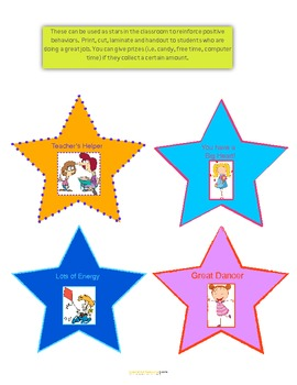 Stars for positive reinforcement