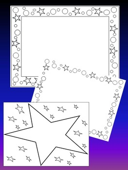 Stars - 30 Frames - Borders - 26 color images - 4 black and white