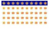 Stars number line 1-100