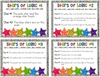 Stars of Logic Problem Solving {Logic Puzzles}