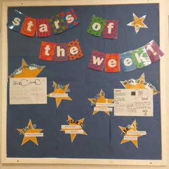 Stars of the Week display