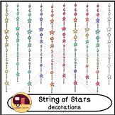 Stars on Strings, Dangling Stars Decorations {CU - ok!}