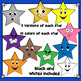 Stars with Faces Clip Art