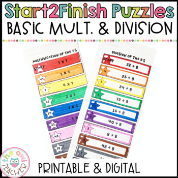 Start 2 Finish Basic Multiplication and Division Facts Math Puzzles