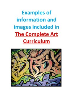 Art Curriculum  Complete set of lessons and support for Middle School 2019