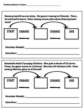 Start-Change-Change Number Stories