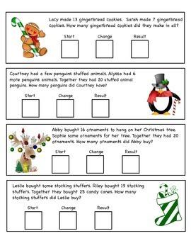 Start, Change, Result Word Problems