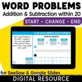 Start Change Result Word Problems Addition & Subtraction w