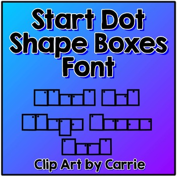Start Dot Shape Boxes Font