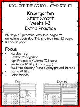 Start Smart Extra Practice (Letter Recognition, Handwriting, & MORE!