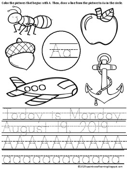 Morning Work - Wonders Start Smart Week 1 kinder (literacy and math)
