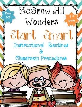 "Wonders ""Start Smart"" ~ Days 1-10 Graphic Organizers Grade 3"